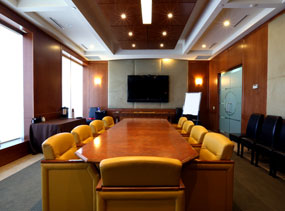 Small image of the well-appointed North York Office Space Boardroom at 4646 Dufferin St.