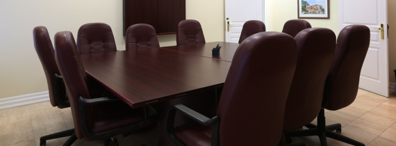 Meeting room at 4646 Dufferin St. for our North York Office space tenants