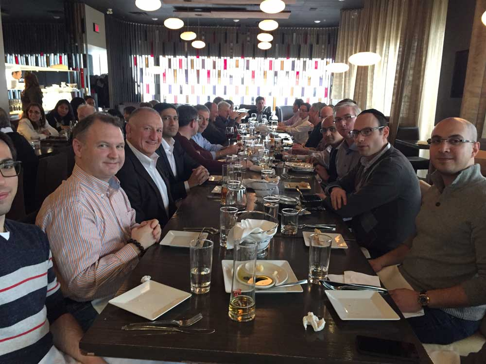 North York Office Space Tenants of 4646 Dufferin St. Having Lunch