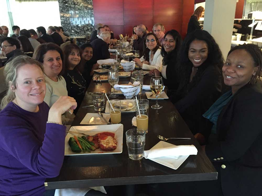 North York Office Space Tenant Team 4646 Dufferin St. at Holiday Lunch
