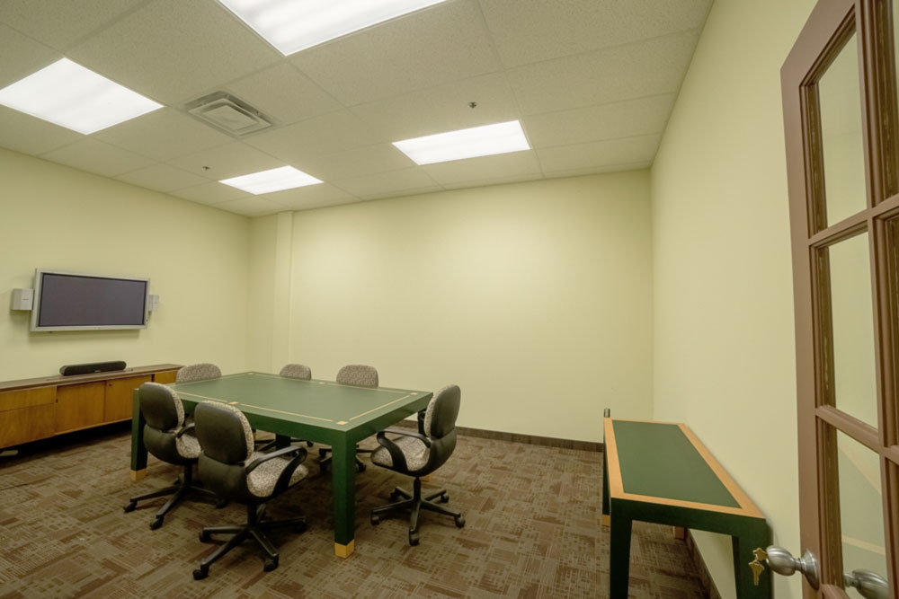 Green meeting room at 4646 Dufferin St.